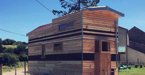 Tiny house, 7,2m, bardage clairevoie